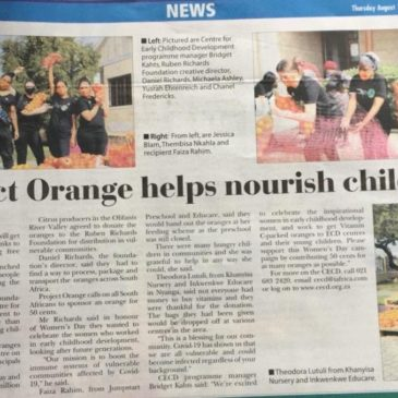 Project Orange x CECD in the News